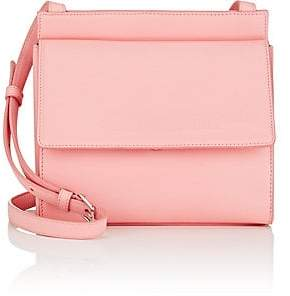 Calvin Klein Women's Foldover Leather Crossbody Bag - Pink