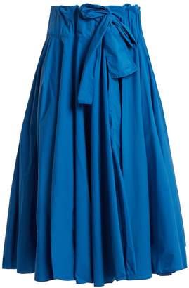 Maison Rabih Kayrouz Gathered-waist paper-taffeta midi skirt