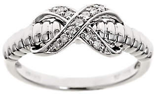 Abercrombie & Fitch Affinity Diamond Jewelry X-Design Diamond Ring, Sterling, 1/10cttw
