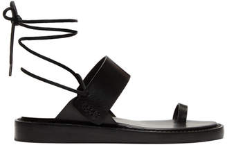 Ann Demeulemeester Black Vachetta Nero Sandals