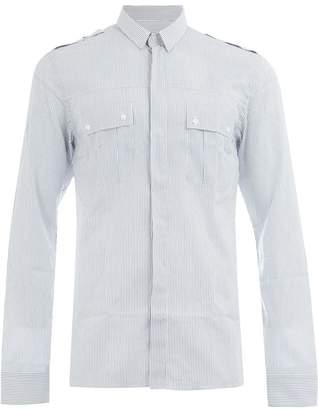 Balmain striped utility shirt