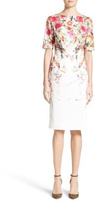 Women's Lela Rose Claire Wild Flower Print Sheath Dress $1,195 thestylecure.com