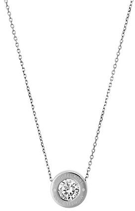MICHAEL Michael KorsMichael Kors Brilliance Logo Pendant Necklace/Silvertone