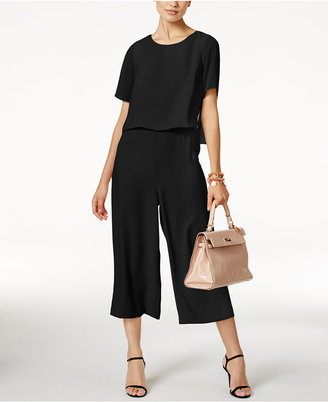 Alfani Cropped Popover Jumpsuit, Only at Macy's $99.50 thestylecure.com