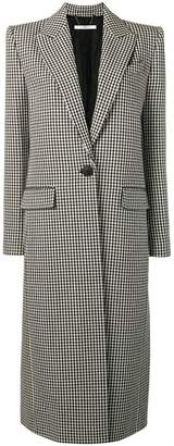 Givenchy Houndstooth one button wool coat