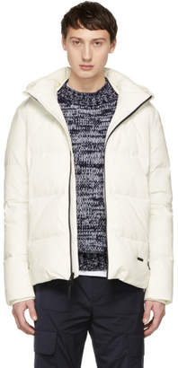 Woolrich John Rich and Bros White Down Comfort Jacket