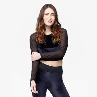 Puma Velvet Long Sleeve Crop Top - Women's