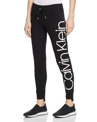 Calvin Klein Step-Hem Logo Sweatpants