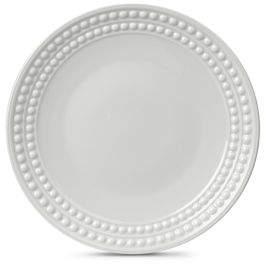 """L'OBJET Perlee White"""" Dinner Plate"""