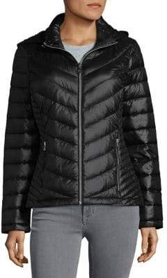Calvin Klein Petite Puffer Down Hooded Coat