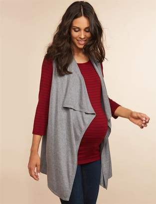 Motherhood Maternity Drape Front Maternity Sweater Vest