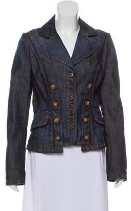 Dolce & Gabbana Leather-Trimmed Denim Jacket