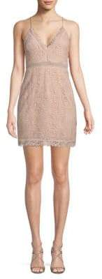 The Jetset Diaries Hyacinth Paisley Lace Mini Dress