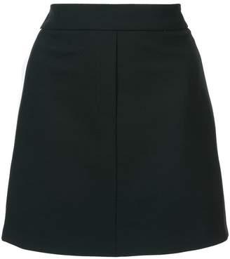 Neil Barrett racing stripe mini skirt