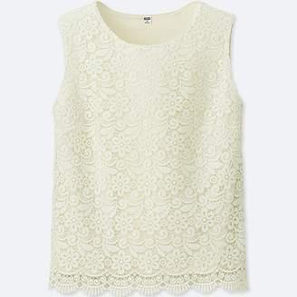 Uniqlo Women's Lace Sleeveless T-Shirt