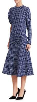 Calvin Klein Tartan Plaid Jacquard Midi Dress