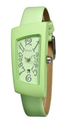 Crayo Angles Mint Dial Mint Leather Watch