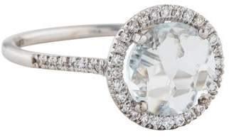 Suzanne Kalan 18K Topaz & Diamond Cocktail Ring