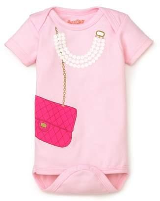 Bloomingdale's Sara Kety Girls' Bag & Pearls Bodysuit - Baby