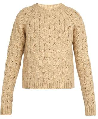 Acne Studios Cable Knit Sweater - Mens - Beige