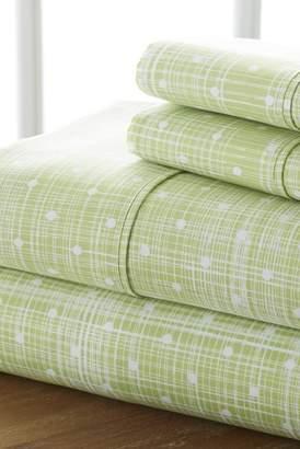 IENJOY HOME Home Spun Premium Ultra Soft Polka Dot Pattern 3-Piece Twin Bed Sheet Set - Moss