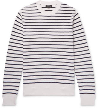 A.P.C. Richard Striped Cotton Sweater