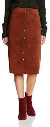 Gestuz Women's Daya A-Line Plain Skirt,(Manufacturer Size:38)