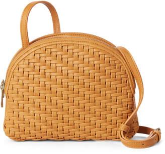 Street Level Maize Weave Crossbody Bag