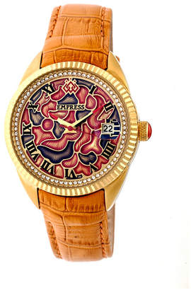 Helena Empress Automatic Camel Leather Watch 36mm
