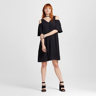 Mossimo Women's Cold Shoulder Embroidered Dress - Mossimo $29.99 thestylecure.com