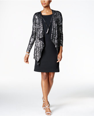 Jessica Howard Metallic Lace Layered-Look Dress $109 thestylecure.com