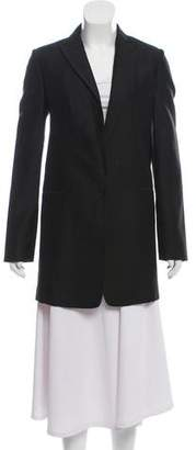 Calvin Klein Collection Peak-Lapel Silk-Wool Blazer w/ Tags