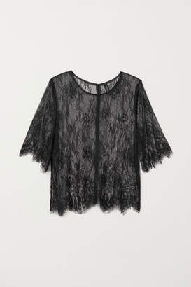 H&M Lace Blouse - Black