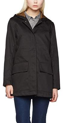 Gloverall Women's Parka Coat, (Black), (Size:Medium)