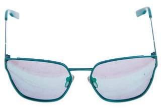 Jason Wu Reflective Cat-Eye Sunglasses
