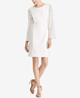 American Living Lace-Sleeve Shift Dress