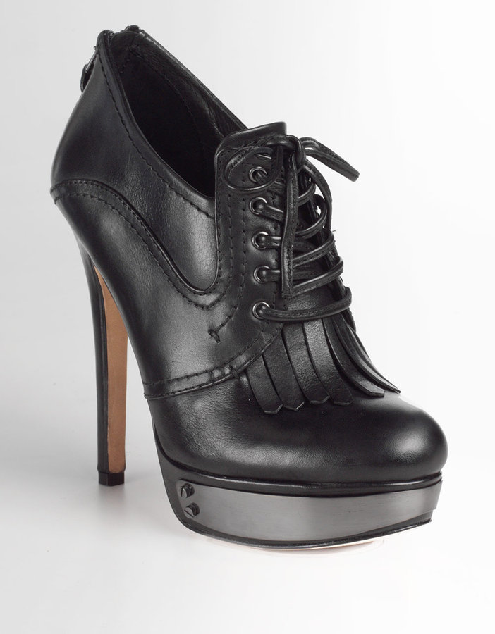 HOUSE OF HARLOW 1960 Nelly Leather High-Heel Oxfords
