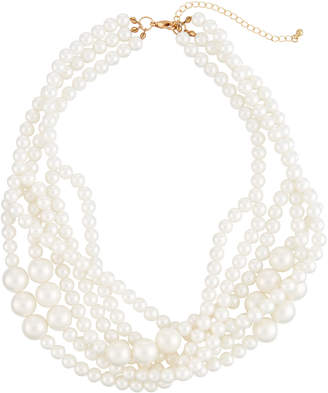 Romeo & Juliet Couture Multi-Strand Iridescent Pearly Necklace