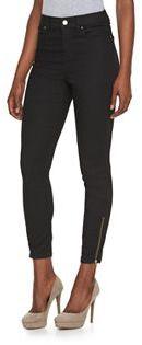 Women's Jennifer Lopez Ankle Zip Skinny Jeans $60 thestylecure.com