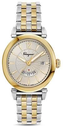 Salvatore Ferragamo Feroni Two-Tone Watch, 40mm