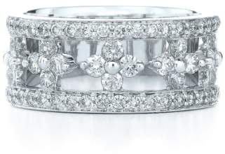 Kwiat 'Jasmine' Floral White Gold & Diamond Ring
