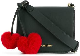 Love Moschino pom pom heart crossbody bag