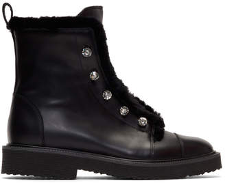 Giuseppe Zanotti Black Hilary Military Boots