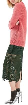 Women's Topshop Lace Midi Skirt $115 thestylecure.com