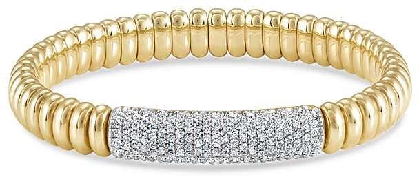 Hulchi Belluni 18K Yellow Gold Tresore Pave Diamond Bracelet