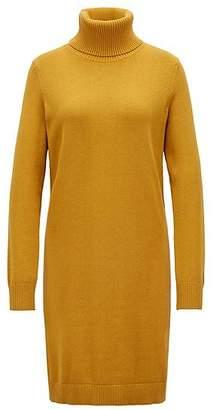 HUGO BOSS Roll-neck sweater dress in a virgin wool-cotton blend