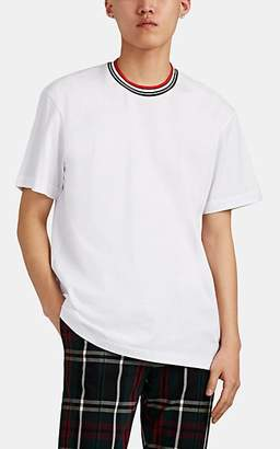 Marni Men's Dance-Bunny-Patch Striped-Crewneck Cotton T-Shirt - White