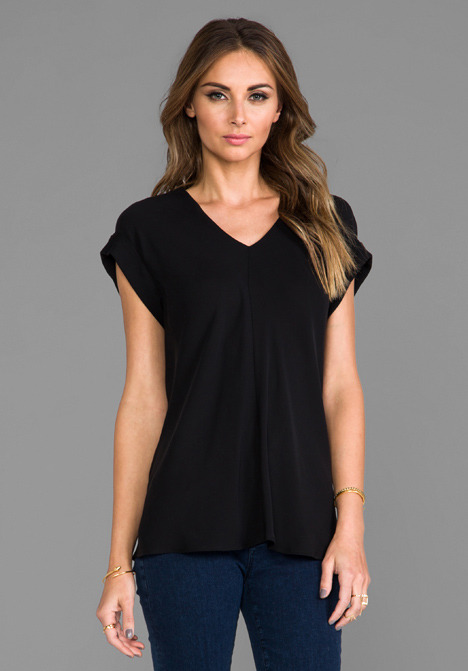 Theory Double Georgette Gyda Top
