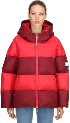Tommy Hilfiger Tommy Rugby Striped Hooded Down Jacket