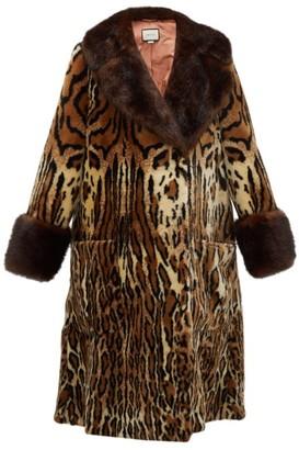 Gucci Leopard Print Faux Fur Coat - Womens - Leopard